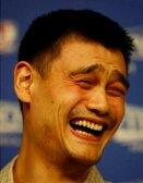 wajah lucu Yao Ming