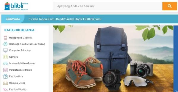 Situs E-Commerce Blibli.com