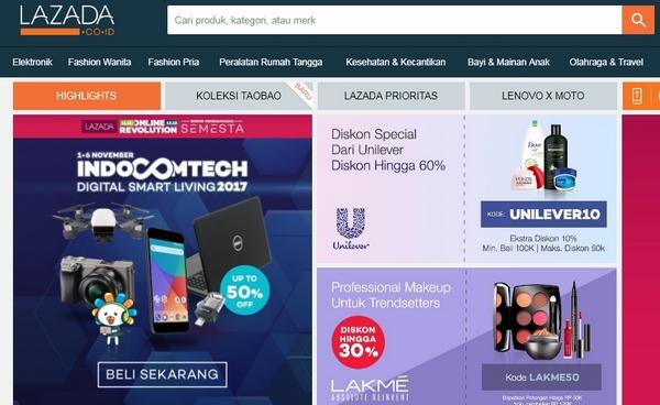 Situs E-Commerce Lazada Indonesia