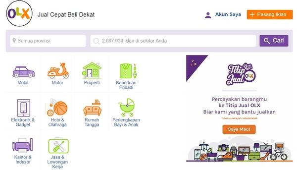 Situs E-Commerce OLX Indonesia