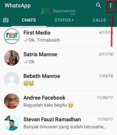 WhatsApp web tap