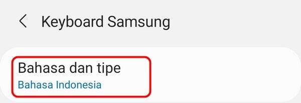 tulisan Arab di HP Samsung