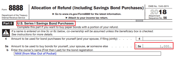I Bonds are reported on IRS form 8888