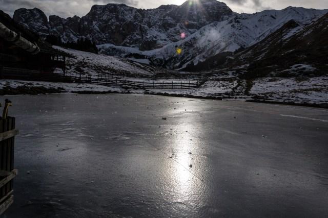 Molignon laghetto ghiacciato