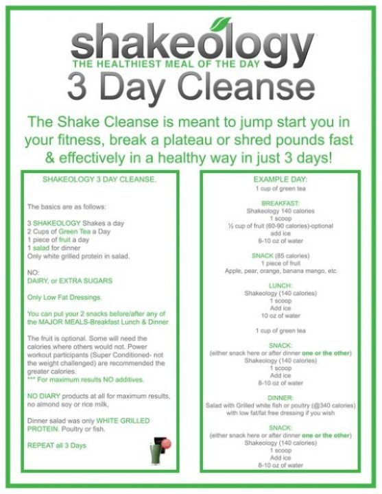Shakology 3 Day Cleanse
