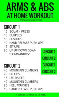 Arms and abs at home workouts