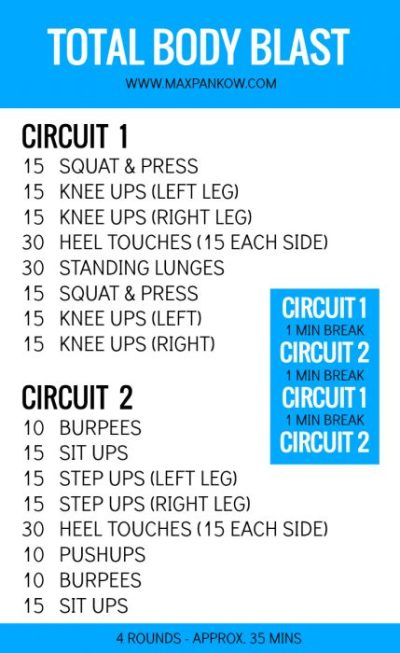 at home total body workout