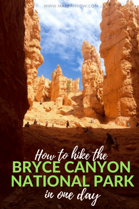 Want to see those crazy hoodoos? Here's how to add Bryce Canyon National Park to your road trip itinerary AND hike all the hot spots in 1 day. #brycecanyon #brycecanyonnationalpark #nationalparks #hoodoos