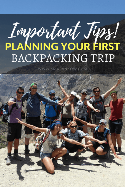 Important tips for planning for your first backpacking trip