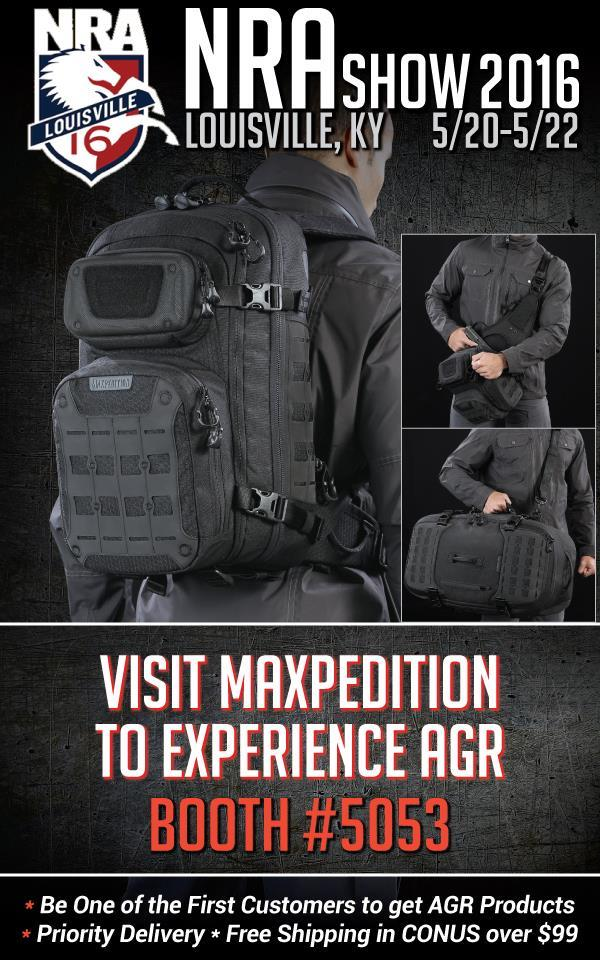 Visit Maxpedition at the 2016 NRA Show