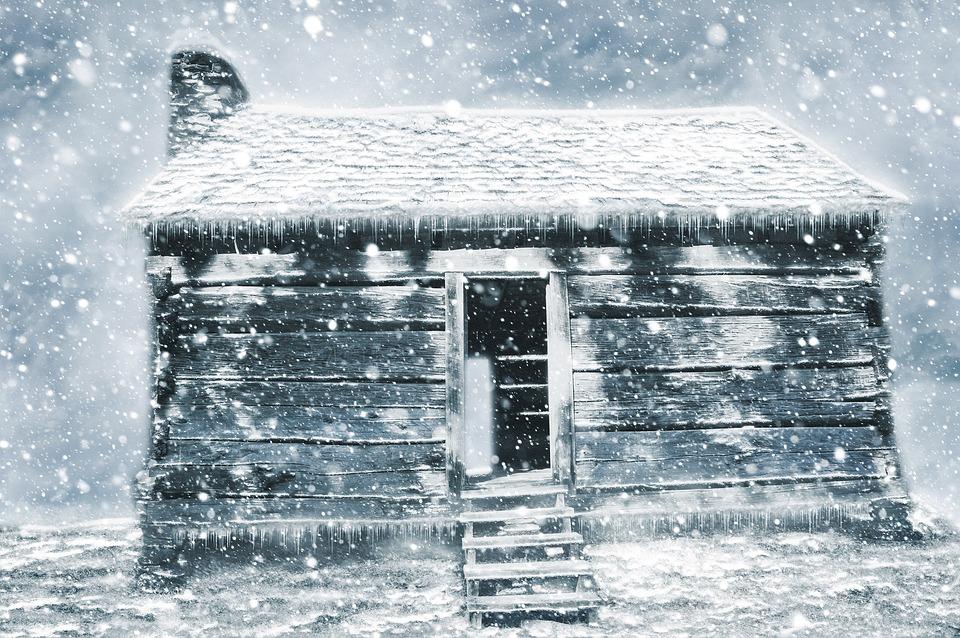 Free Photo Abandoned Hut Shack Snow Art Design Winter