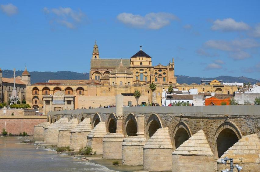 Cordoba, City, Bridge, Sky, Blue