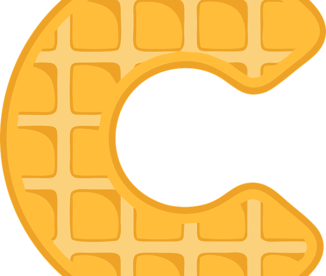 C Alphabet Waffle Letter Typography Text Font
