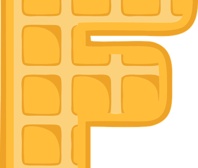 F Alphabet Waffle Letter Typography Text Font