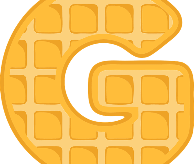 G Alphabet Waffle Letter Typography Text Font