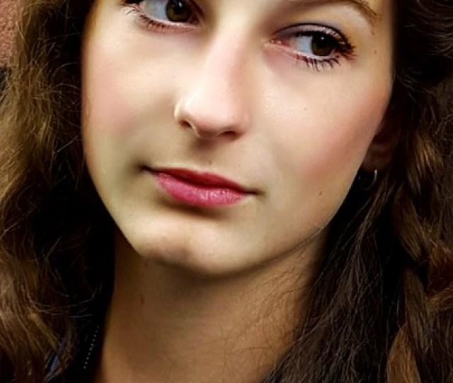 Girl Teen Tough Long Hair People Face Thinking