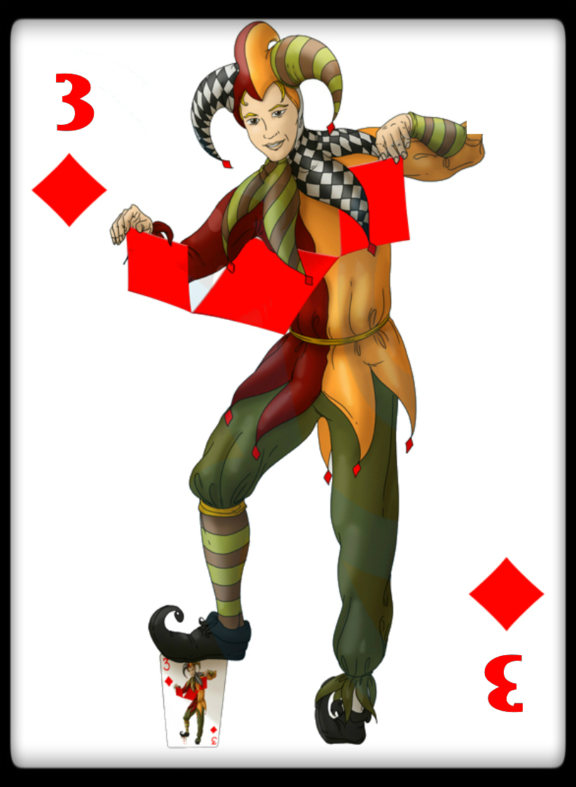 4Jokers3ClubBordered Max Playing Cards