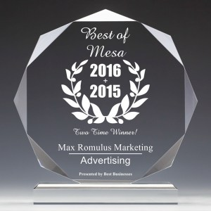 Max Romulus Marketing Receives 2016 Best Businesses of Mesa Award