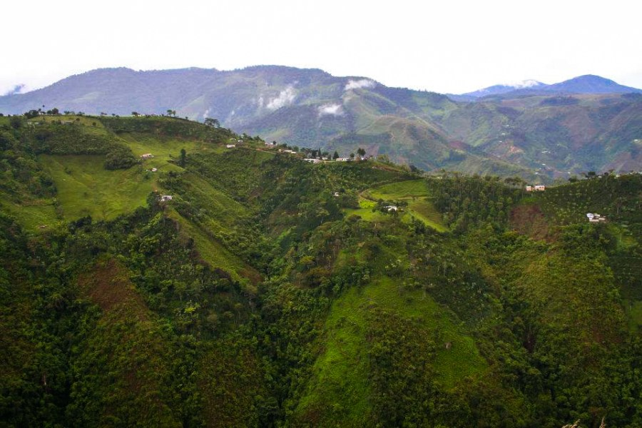 One of Colombia's unbelievable Andean landscapes