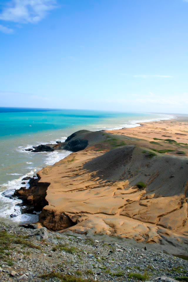 The coast of the Guajira peninsula