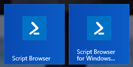 Script Browser Icons