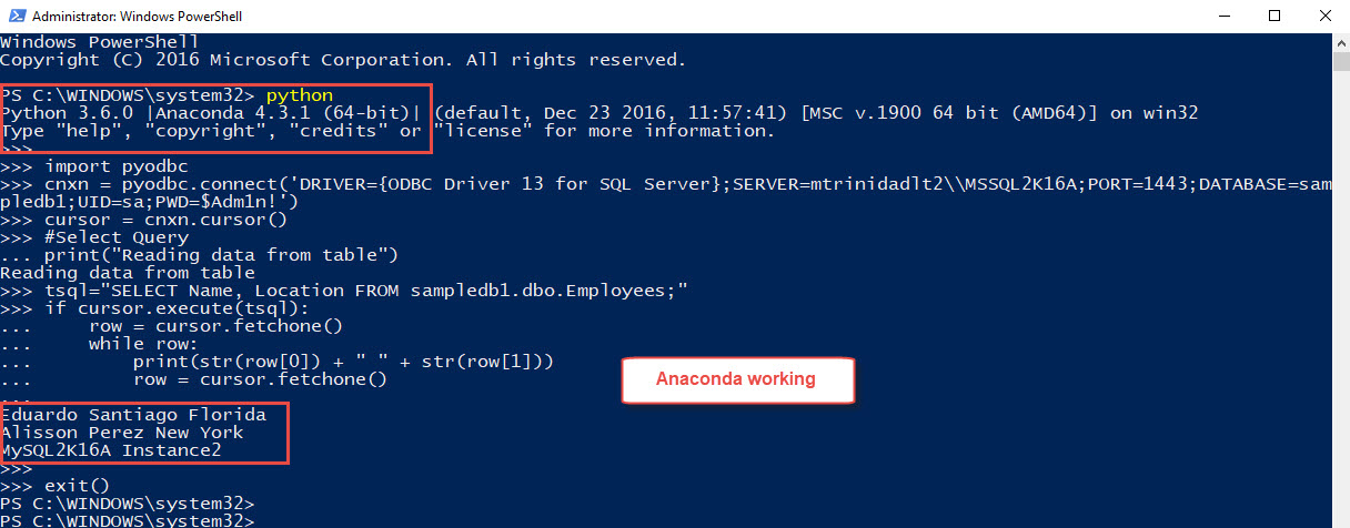 Powershell And Sql Server Working With Anaconda Max Trinidad