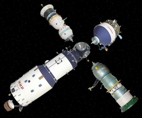SOVIET MIR SPACE STATION 1:8 MODEL MUSEUM SIZE QUALITY   eBay