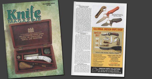 Knife Magazine, Colin Despins