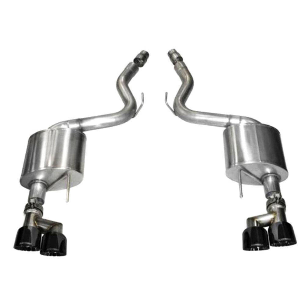 exhaust system sport black 15 17 ford mustang gt coupe p