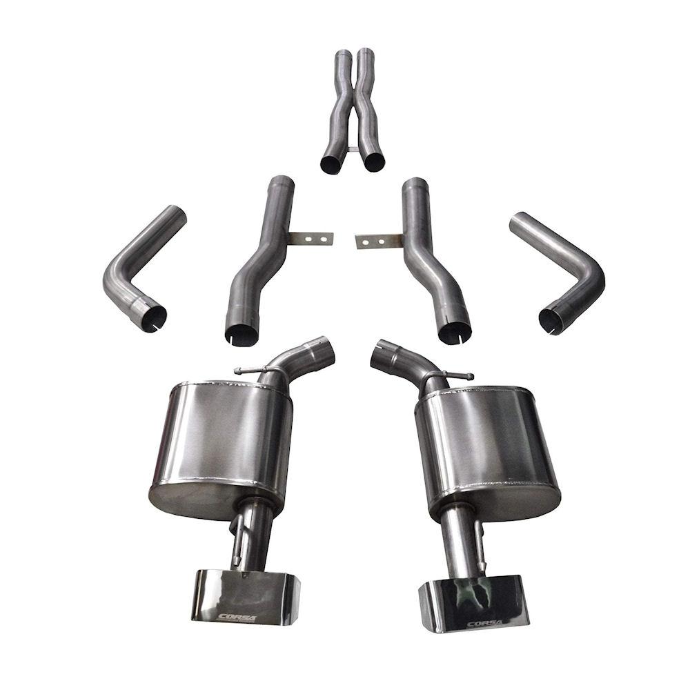exhaust system sport polished 15 19 dodge challenger srt