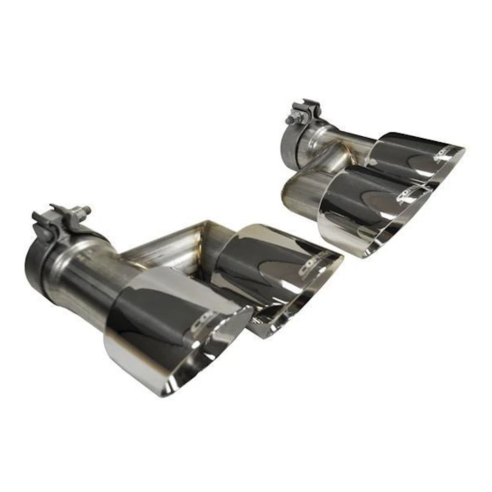 exhaust tip kit quad s 15 17 ford mustang gt