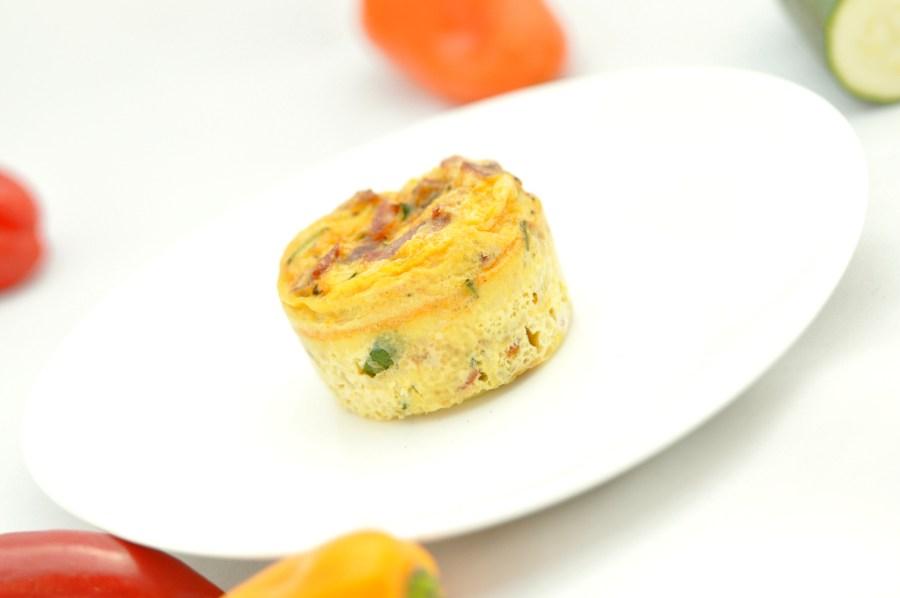 Chorizo and zucchini mini-frittatas