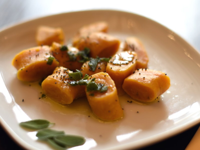 Squash gnocci with sage butter
