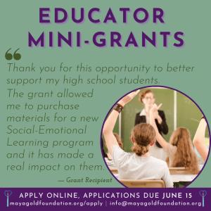Link to Mini Grants for Educators