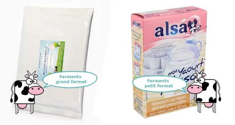 yaourts faits maison - format des ferments