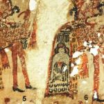 Une partie de la fresque découverte à Chajul au Guatemala © R. Słaboński