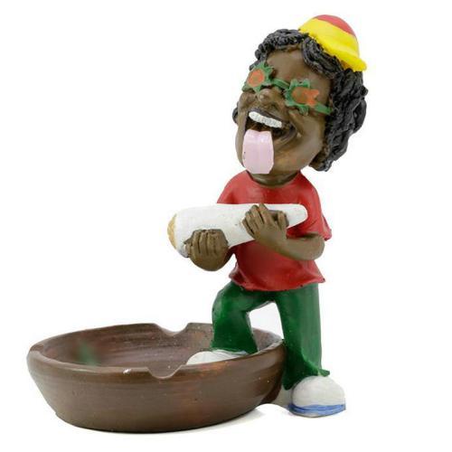 Jamaican Man Resin Ashtray