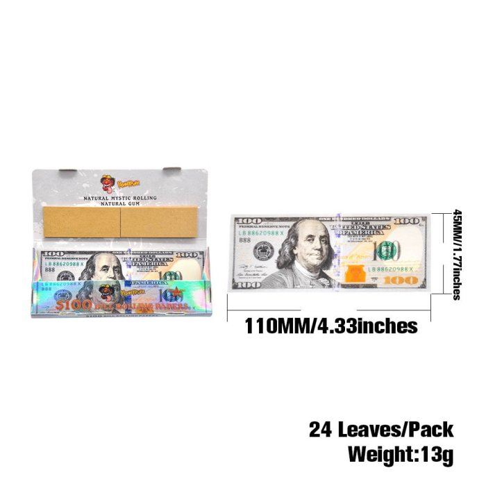 $100 Bill Rolling Papers