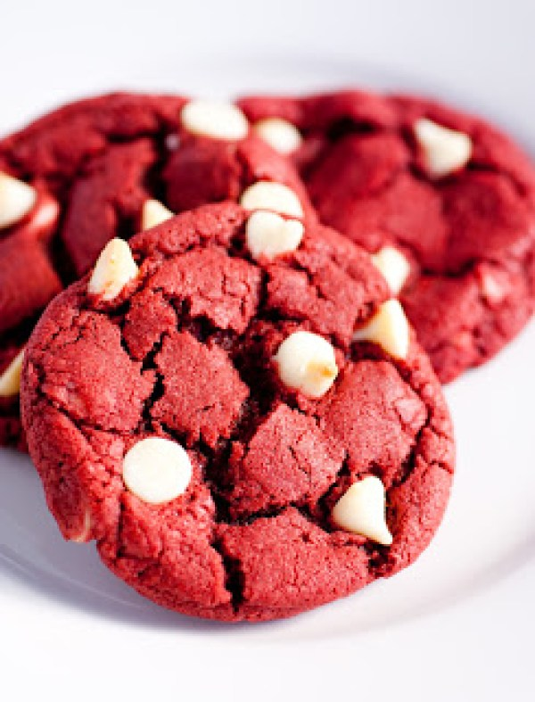 Canada Day Treats - Red Velvet White Chocolate Chip Cookies