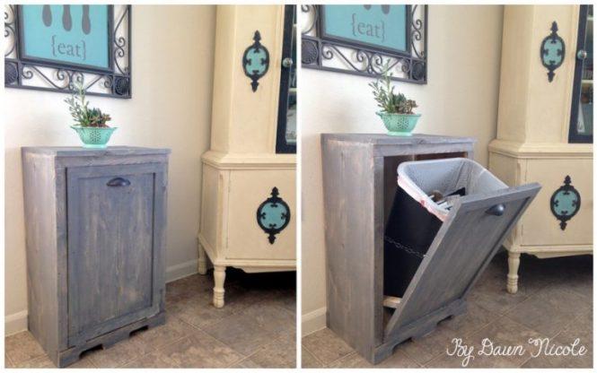 Home Decor DIYs - Tilt Out Trash Can DawnNicole