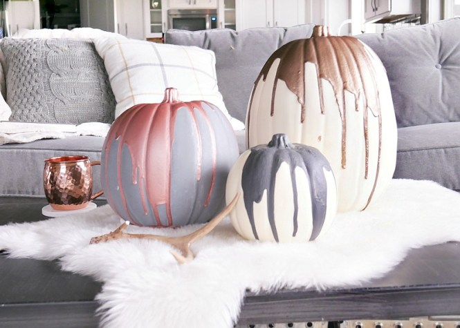 halloween-decor-metallic-pumpkins