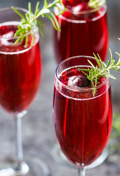 Holiday Drinks - Cranberry Mimosas - The Blond Cook