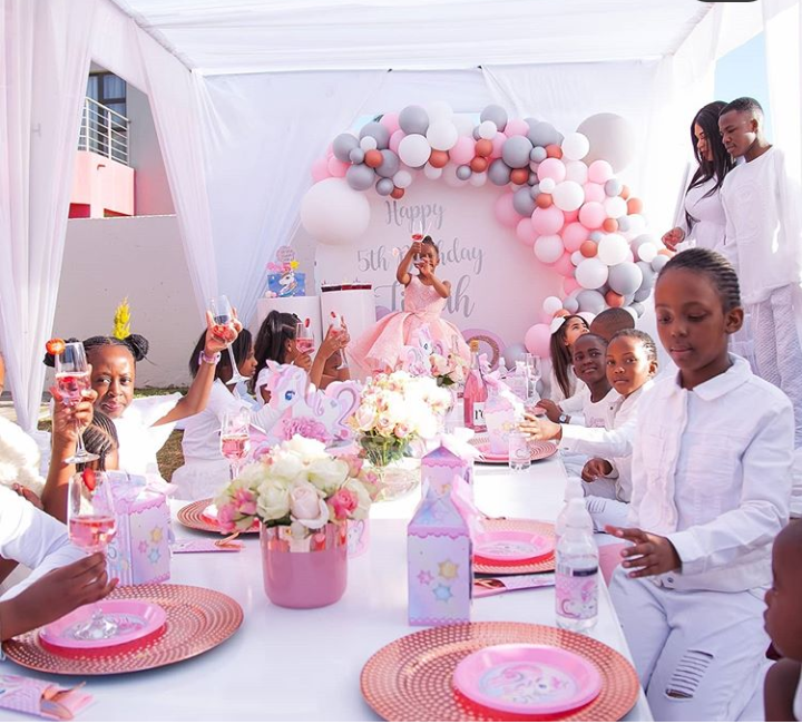 This past weekend , South African based Ugandan Socialite, Zari Hassan  thrown a lavish party for her daughter, Tiffah Dangote who turned five on August 6th, 2020.