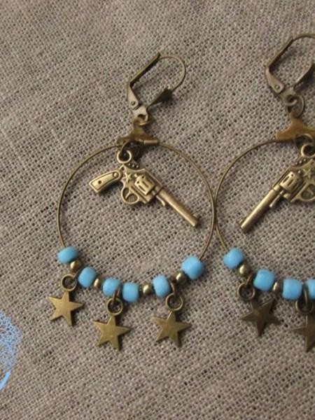 bo_bronze_pistolet_gun_turquoise_étoiles_may_bohème_cowboy_indien