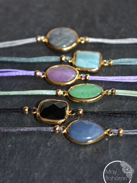 "BRACELET KES ""GYSPET SPIRIT"" - Bracelet pierre fine"