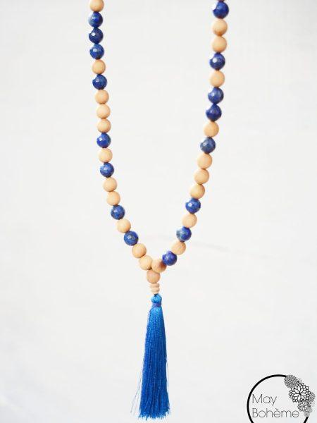 Sautoir Blue SWEET SANTAL - Perles de santal et lapis lazuli