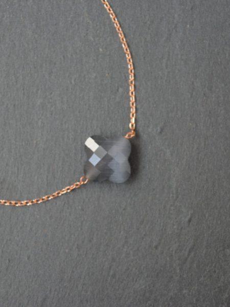 """Bracelet trèfle Gold Rose """"Bohémienne Chic"""" - Bracelet en plaqué or"""