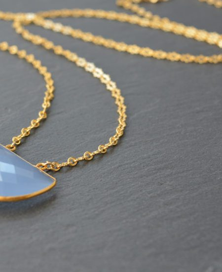 "Collier Moona ""INDIAN MOOD"" - Collier demi lune quartz bleu"