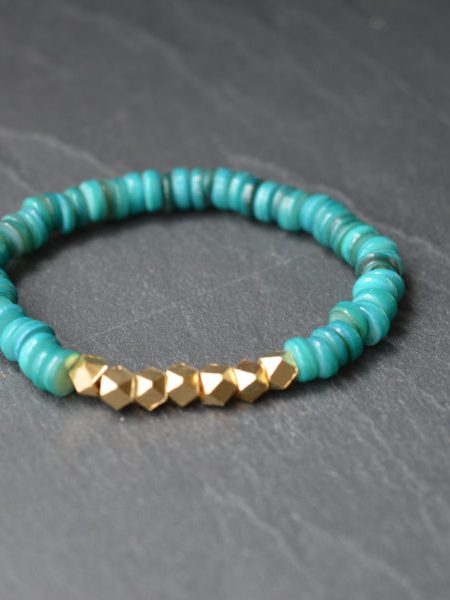 "Bracelet Indie ""INDIAN MOOD"" - Perles coquillage"