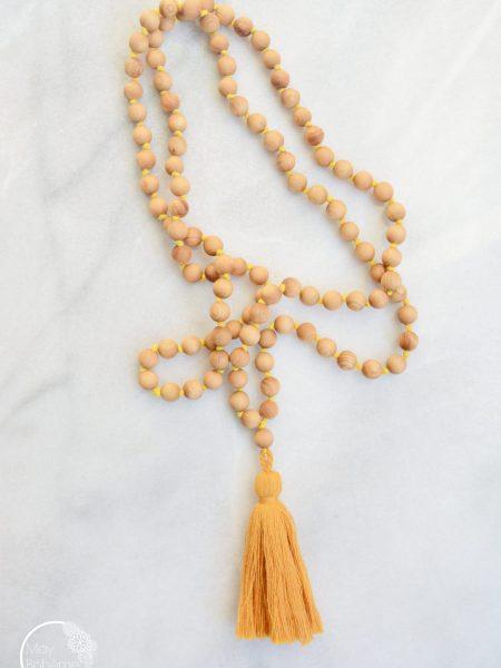 Sautoir  SWEET SANTAL - Perles de santal